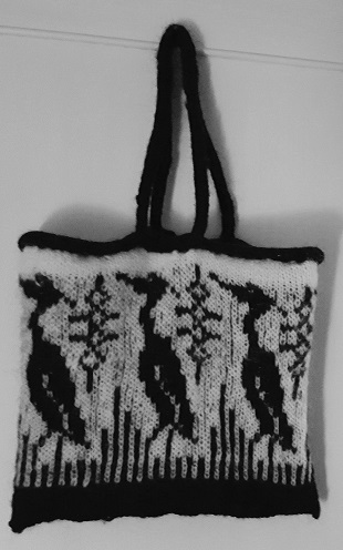 Heron Tote Bag (on Ravelry)